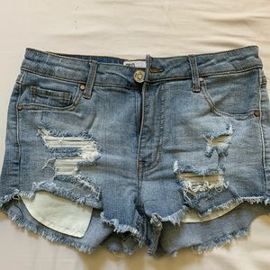 Urban Outfitters (RSQJeans) distressed jean shorts